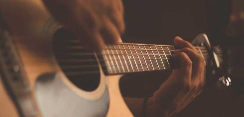Achtergrondmuziek op gitaar thema
