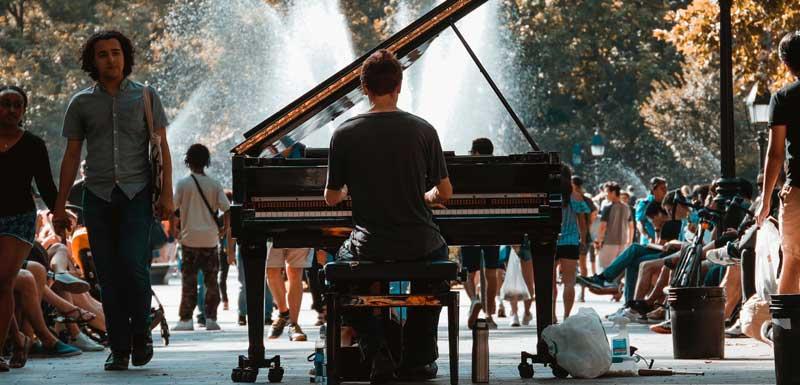 Solo pianoshows thema