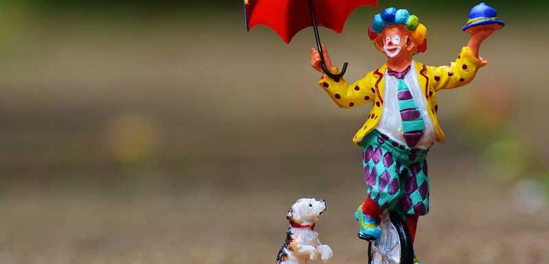 Acrobatische clown thema