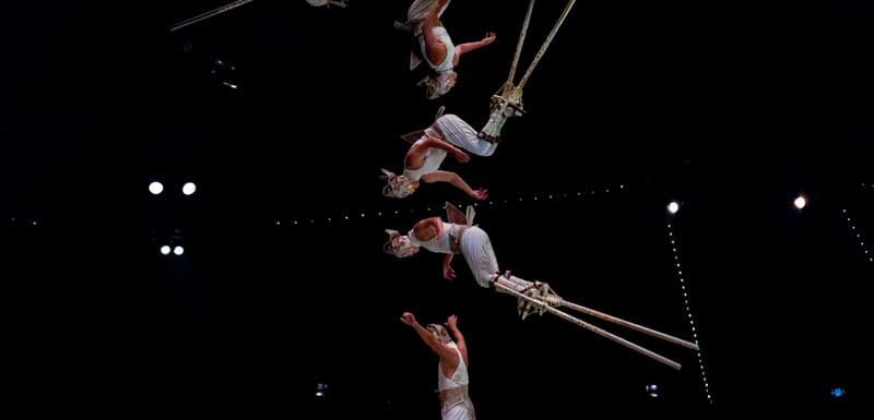 Acrobatische show thema