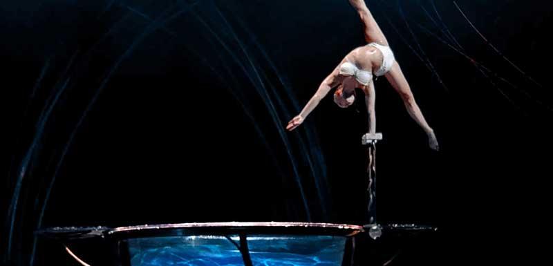 Acrobatische openingsshow thema