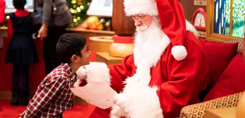 Bezoek van de Kerstman thema