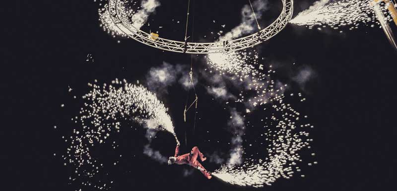 Acrobatiek in de lucht thema