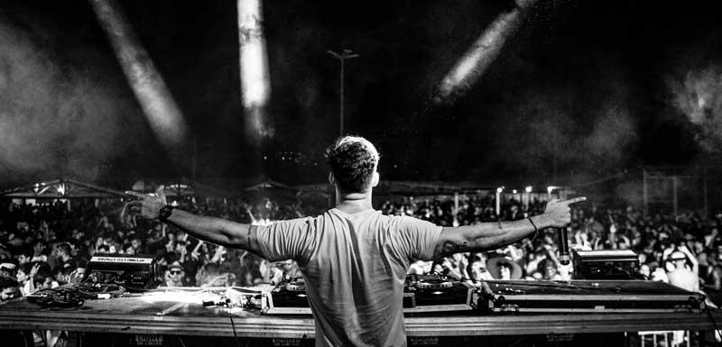 EDM festival DJ's thema